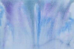 Astrazione dell'acquerello dei blu oltremare Fotografia Stock