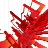astrazione della priorità bassa di vettore 3D Fotografie Stock Libere da Diritti