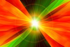 Astrazione di Digitahi con indicatore luminoso sul centro illustrazione vettoriale