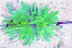 astrazione di estate con l'illustrazione verde e rosa di tonalità di un 3D Immagine Stock