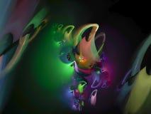 Astrazione di frattale, fondo futuro di caos di potere magico, bella progettazione della discoteca royalty illustrazione gratis