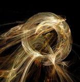 Astrazione di frattale Una cifra tonda d'ardore, un simbolo di energia, tensione, potere Immagini Stock