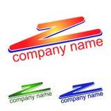 Astrazione di logo, zigzag dei colori differenti Emblema, icona Fotografia Stock Libera da Diritti