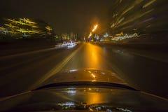 Astrazione di un movimento ad alta velocità Fotografia Stock