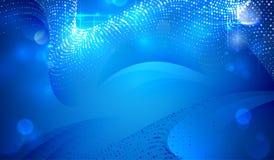 Astrazione elegante profonda blu illustrazione vettoriale