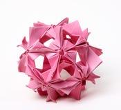 Astrazione fatta a mano di origami Fotografia Stock