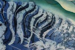 Astrazione, frammento, batik caldo, arte fatta a mano su seta illustrazione vettoriale