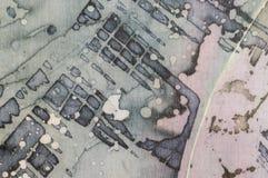 Astrazione, frammento, batik caldo, struttura del fondo, fatta a mano su seta illustrazione vettoriale