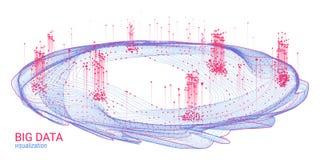 Astrazione futuristica Grande visualizzazione di dati illustrazione vettoriale