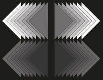 Astrazione geometrica dei triangoli illustrazione vettoriale