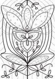 Astrazione Linea nera sul fondo di arte Disegno a tratteggio di arte illustrazione vettoriale