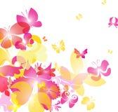 Astrazione luminosa con le farfalle Immagine Stock
