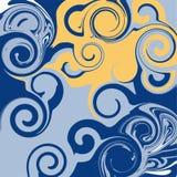 Astrazione luminosa di toni Imitazione di marmo o flusso delle pitture liquide royalty illustrazione gratis