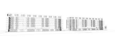 Astrazione moderna di architettura Immagini Stock Libere da Diritti