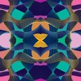 Astrazione moderna di Stle con composizione fatta di varie forme arrotondate a colori illustrazione di stock