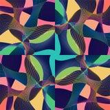 Astrazione moderna di Stle con composizione fatta di varie forme arrotondate a colori illustrazione vettoriale