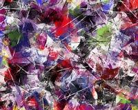 Astrazione multicolore luminosa dei frammenti variopinti e dei graffi immagini stock