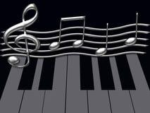 Astrazione musicale Fotografia Stock Libera da Diritti