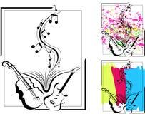 Astrazione musicale con l'aggiunta di parecchie sfumature illustrazione vettoriale