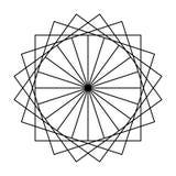 Astrazione nera del modello di divertimento dei quadrati in un cerchio illustrazione vettoriale