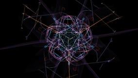 Astrazione scura di movimento a orologeria, progettazione dello steampunk illustrazione di stock