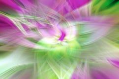 Astrazione sotto forma di petali su un fondo nero, illusioni cosmiche royalty illustrazione gratis