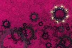 Astrazione succosa luminosa su un backgroun cremisi Fotografia Stock Libera da Diritti