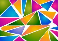 Astrazione Triangoli blu, verdi, arancio e rosa Fotografie Stock