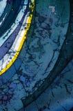 Astrazione, turchese e viola, batik caldo, struttura del fondo, fatta a mano su seta royalty illustrazione gratis