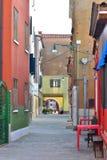 Astreet σε Pelestrina Στοκ Φωτογραφία