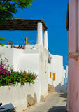 Astreet na ilha de Panarea, Itália Fotos de Stock