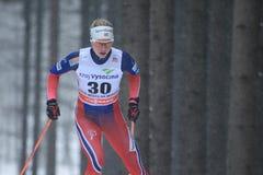 Astrid Uhrenholdt Jacobsen - skidåkning för argt land Arkivbild