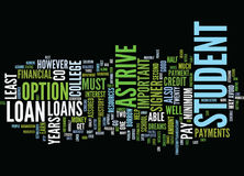Astrive Student Loans Word Cloud Concept Royalty Free Stock Photo