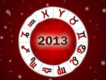 Astro 2013 , horoscope circle with zodiac signs Stock Photography