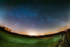 Astro Landscape Stock Photo