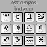 Astro signe des boutons Illustration Libre de Droits