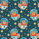 Astro squirrel pattern Stock Image