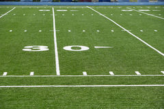 Astro turf field. A new astro turf foot ball field Royalty Free Stock Image