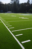Astro turf field. A new astro turf foot ball field Stock Photography
