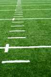 Astro turf football field Royalty Free Stock Image