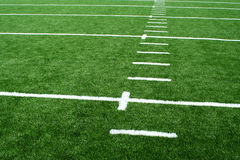 Astro turf football field Royalty Free Stock Photography