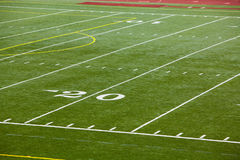 An Astro Turf Football Field Stock Image