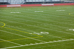 An Astro Turf Football Field Royalty Free Stock Photo