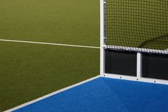 Astro Turf Hockey Field. Abstract view of hockey goals on an Astroturf playing field Royalty Free Stock Image