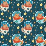 Astro wiewiórki wzór Obraz Stock