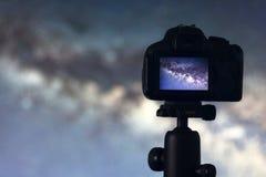 Astrofotografia Astronautycznej astronomii ujawnienia Długa fotografia zdjęcie royalty free