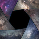Astrofotografia kolaż Żaluzja kolażu wszechświat Astronautyczny Astron fotografia royalty free