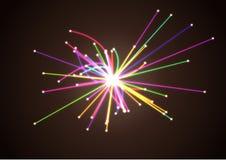 Astrofysicaconcept Wetenschappelijk Onderzoek Deeltjesbotsing in Hadron Collider stock illustratie