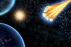 Astroid 2014 κομητών απεικόνιση αποθεμάτων