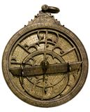Astrolabe. Ancient astronomical device for determining the coordinates and position of celestial objects royalty free stock photos
